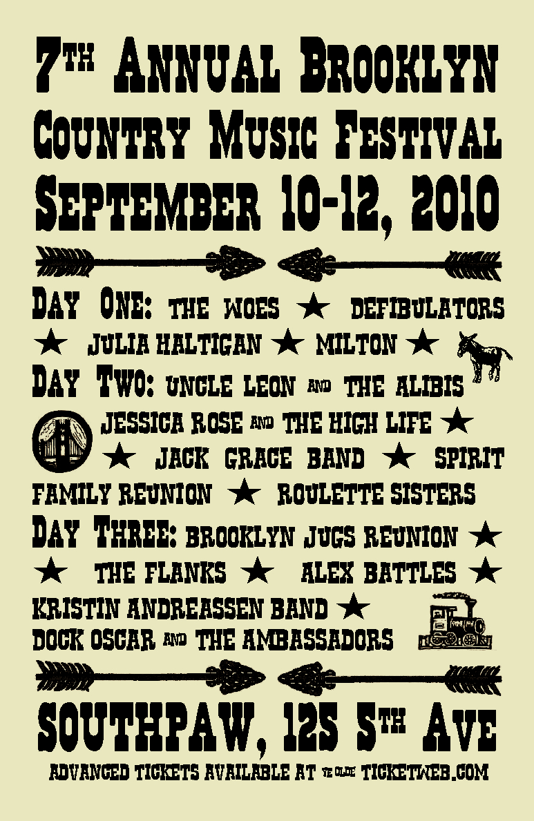 The 7th Annual Brooklyn Country Music Festival